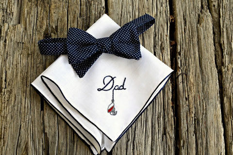 Bordered Fishing Lure Handkerchief for  Dad