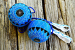 Electric Blue Lotus Flower Temari Poi