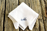 New Groom Mr. Hand Embroidered Pocket Square