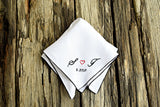 Sweetheart Handkerchief with Wedding Date and Color Border