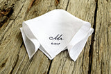 New Groom Mr. Handkerchief Personalized with Wedding Date