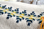 Large Hand Embroidered Sofa Throw Blanket, Afghan in Mosaic
