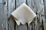 Oatmeal Irish Linen Pocket Square : Handkerchief