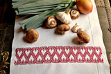 Country Hearts Hand Embroidery Huck Towel