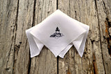 Bug Light Lighthouse Hand Stitched Handkerchief