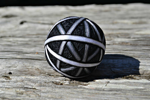 Shades of Grey Monochrome Temari Ball
