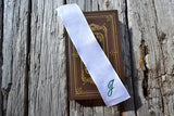 Hand Embroidered Monogram Bookmark - One Initial