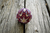Starfire Orange and Blue Temari Ball