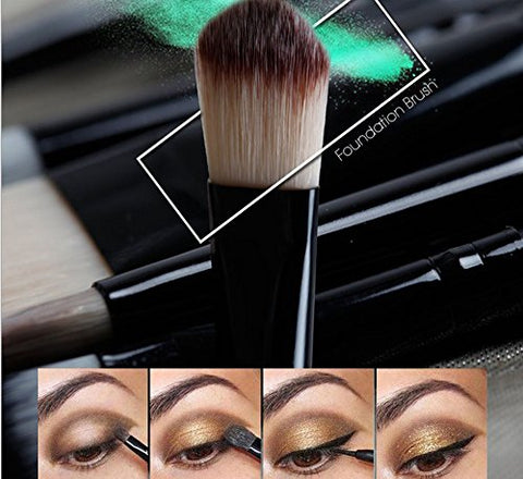 20 Pcs Pro Makeup Set Powder Face Foundation Eye shadow Eyeliner Lip Cosmetic Brushes