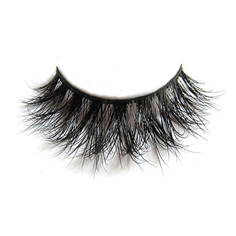 3D Mink Fur Fake Eyelashes 100% Siberian Mink Fur Hand-made False Eyelashes 1 Pair Package