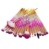 20 Pieces Makeup Brushes Set Kit Foundation Cosmetics Face Eyebrow Eyeliner Blush Lip Cosmetic Powder Blending Makeup Brushes Tool