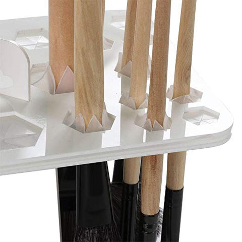 26 Holes Makeup Brush Tree Brush Dryer Holder Makeup Tool (Black)