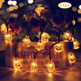 2 Pack Halloween Solar Lights Outdoor Yard Decorations