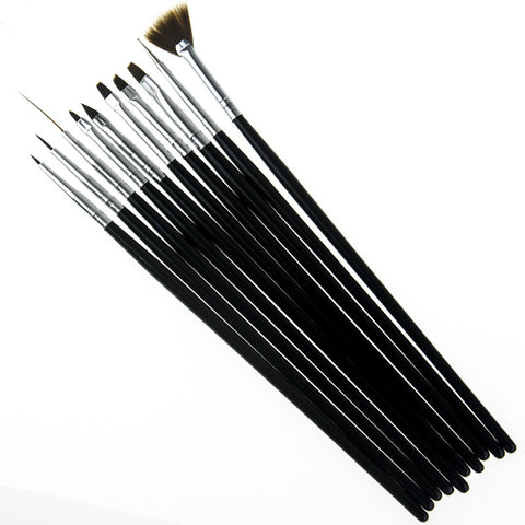 10 Pcs Nail Art Brushes Painting Drawing Carving Pen