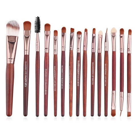 15 pcs/set Professional Beauty Eyeshadow Blending Brush Set