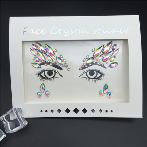 Face Jewels Rhinestone Makeup Glitter Tattoo Stickers Festival Party Face Gems