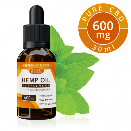 Peppermint CBD 600mg by Delta Botanicals - CBD On Demand