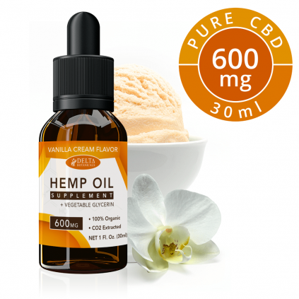 Vanilla Cream CBD 600mg by Delta Botanicals - CBD On Demand