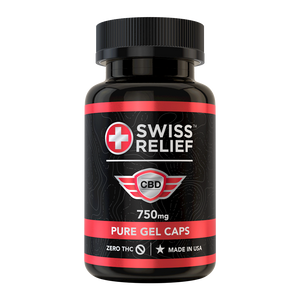 30 Count – CBD Gel Caps 25mg by Swiss Relief - CBD On Demand