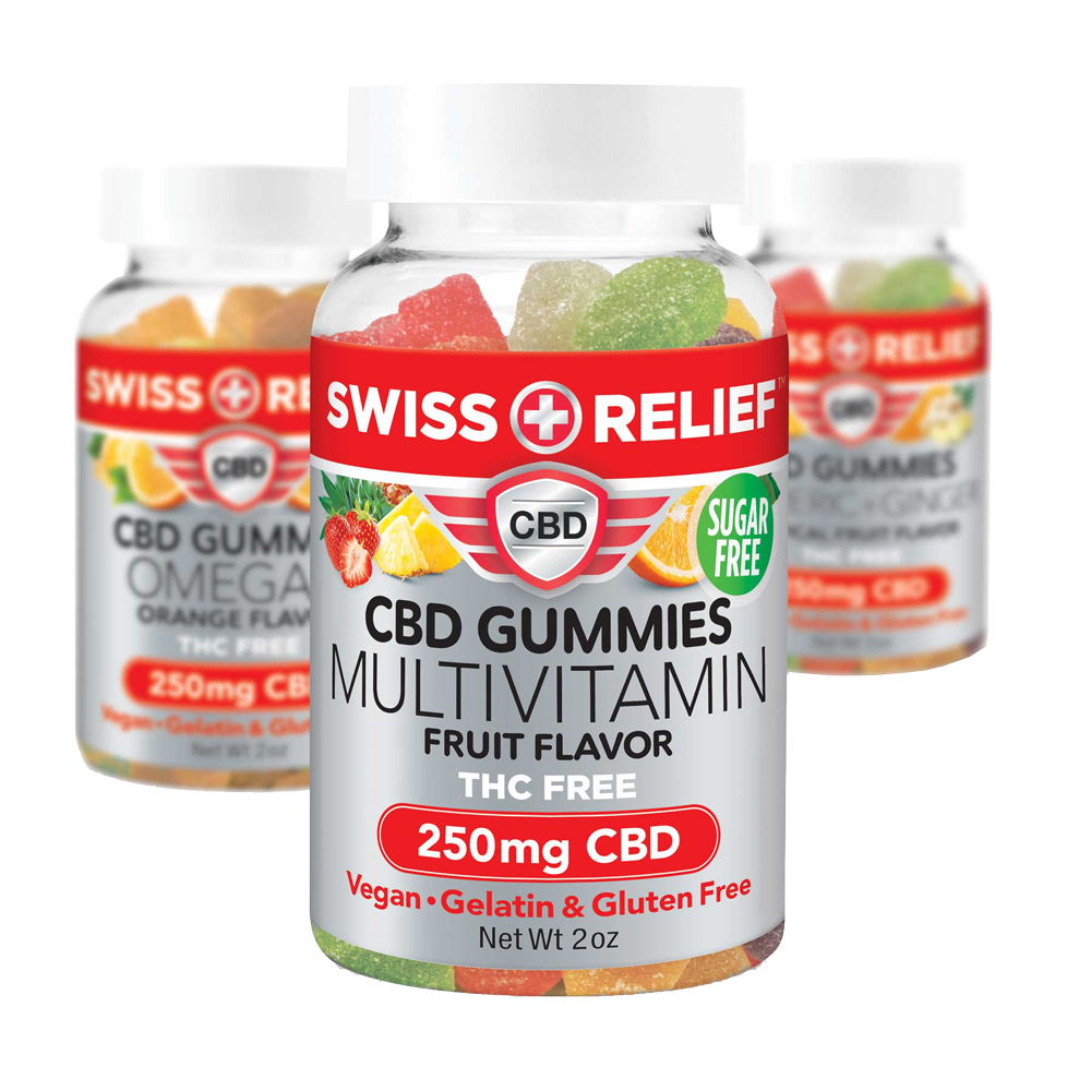 CBD Gummies 250mg by Swiss Relief - CBD On Demand