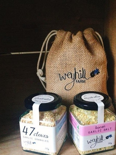 Garlic Gift - 2 jars & storage bag