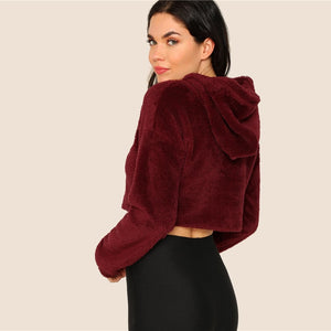 Burgandy Teddy Crop - Luma Bluma