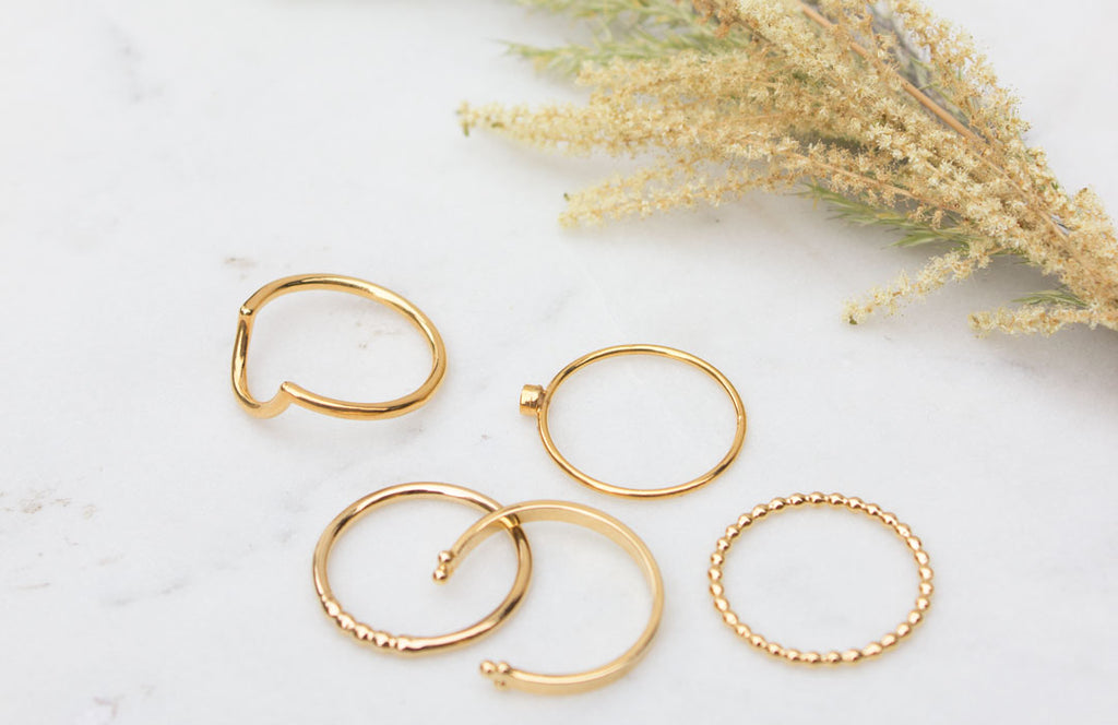 Gold Vermeil Handcrafted Rings