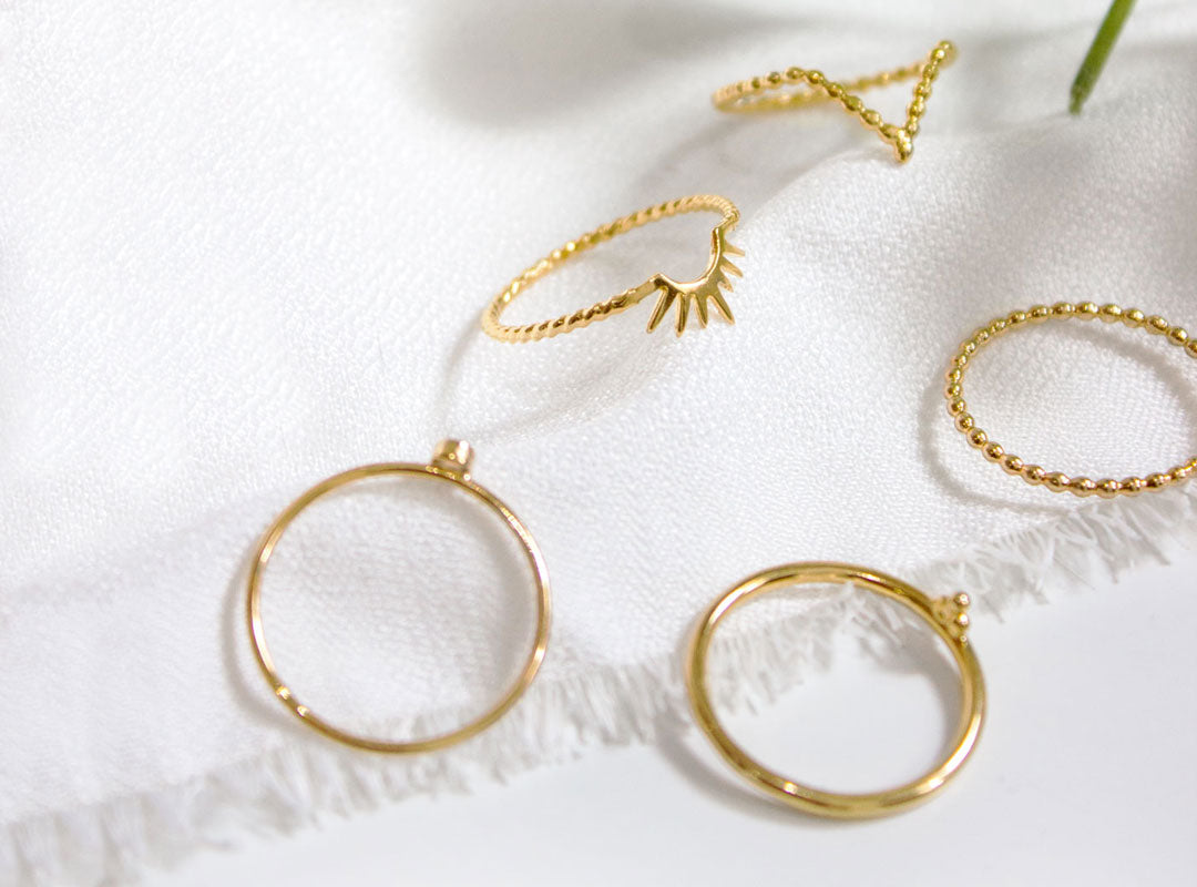 Discover our gold vermeil rings