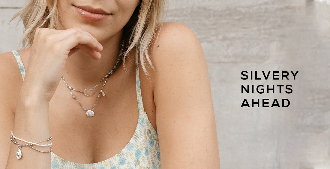 wellDunn jewelry silvery collection. Discover necklaces, earrings, bracelets and rings in silver. Canadian-made jewelry.