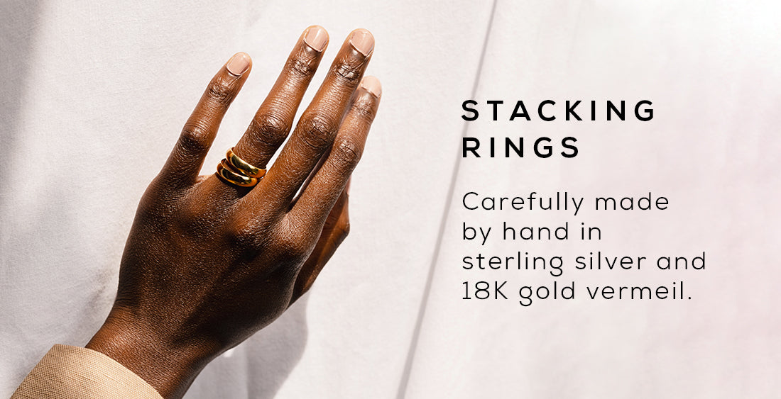 Carefully made by hand in sterling silver and 18k gold vermeil.