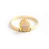 Mounia | Gold Vermeil Moonstone Ring