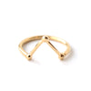 Omega | Gold Vermeil Horseshoe Beaded Ring