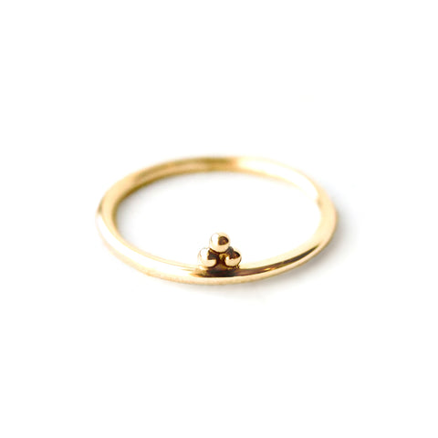 Constance | Sterling Silver Dotted Ring