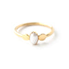 Troie | Gold Vermeil Moonstone Ring