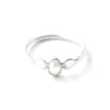 Babka | Sterling Silver Curved Twisted Ring