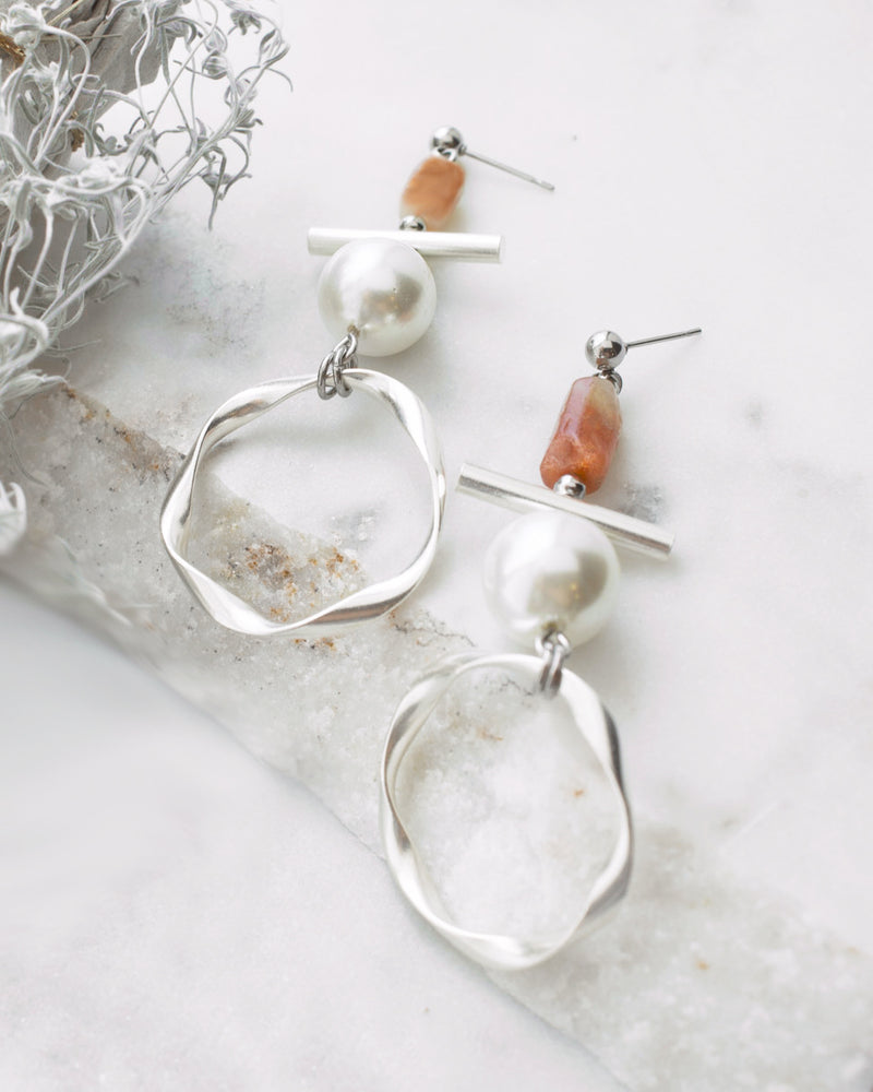 Swan | Silver Totem Earrings
