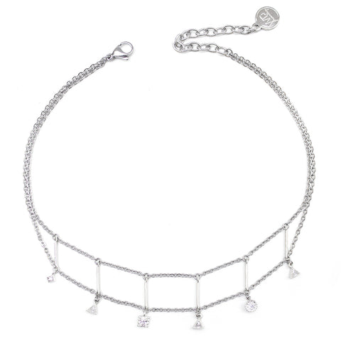 Damien | Silver Toggle Clasp Necklace