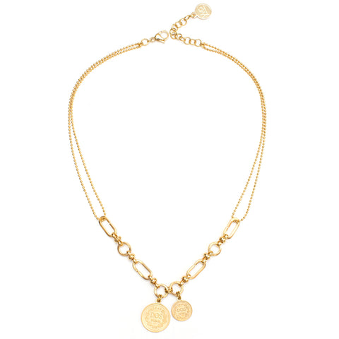 Coco | Gold Pearl Choker Necklace