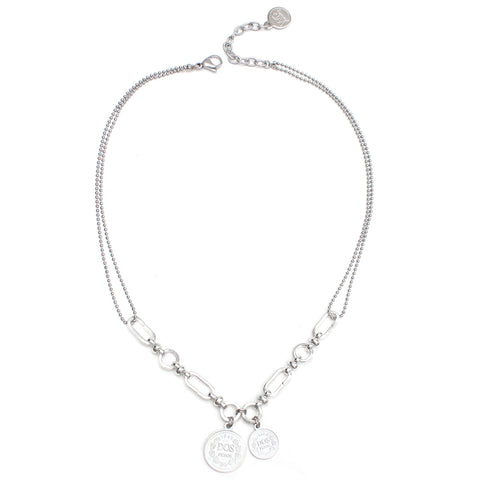 Romeo | Silver Heart Pearl Necklace