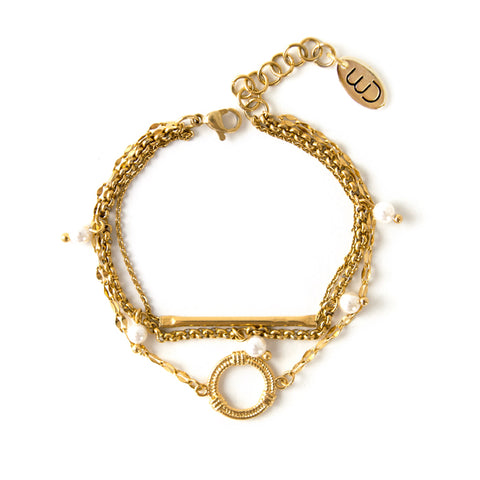 Juan | Gold Coin & Links Bracelet