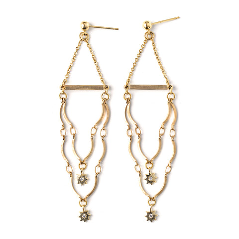 Arizona | Gold Long Pendant Earrings