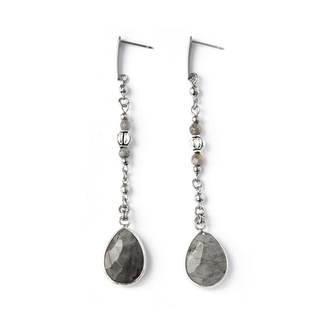 Crow | Silver Dangle Earrings