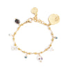 Rosalia | Gold Gemstones Bracelet Set