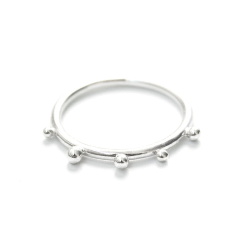 Mia | Sterling Silver Pearl Ring