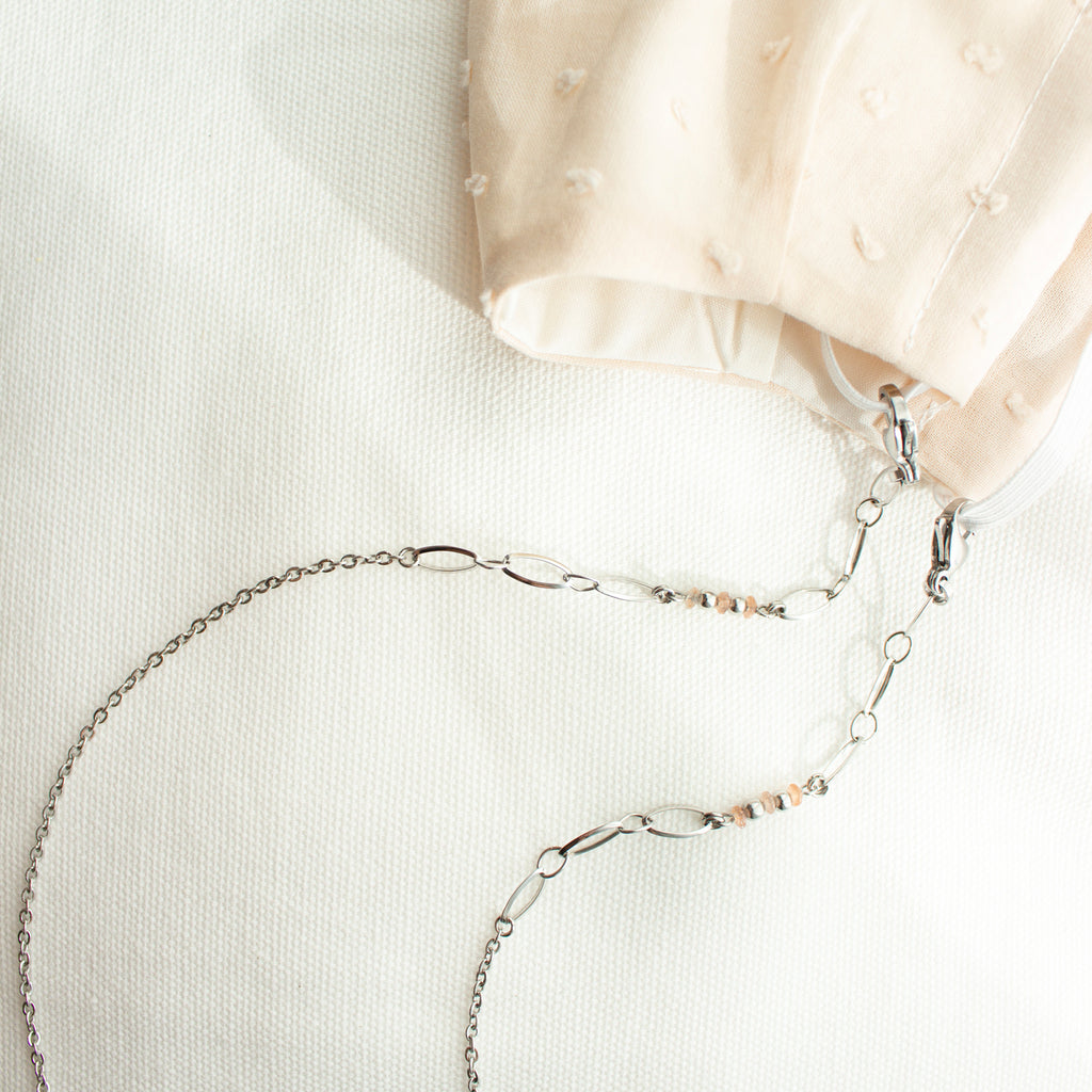 Ernest | Silver Mask Chain & Cotton Mask Set
