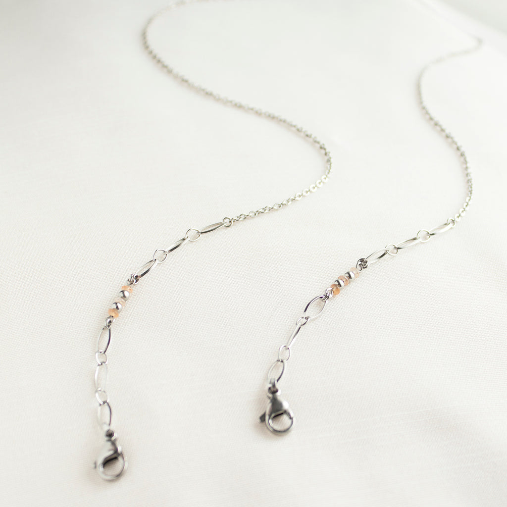 Ernest | Silver Sunstones Mask Chain