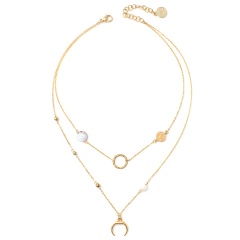 Lotus | Gold Multi-Layered Necklace