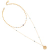 Coco | Collier choker de perles court or