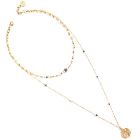Akoya | Gold Black Pearl Long Necklace