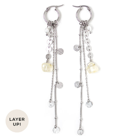 Nebula | Silver Starburst Earrings